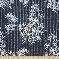 Trans-Pacific Textiles Indigo Garden Highlights Indigo Blue