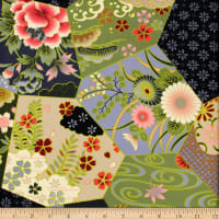 Trans-Pacific Textiles Heritage Patch Blocks Black