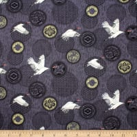 Trans-Pacific Textiles Journey of a 1001 Tsuru Charcoal