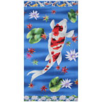 "Trans-Pacific Textiles Digital Koi 24"" Panel Blue"