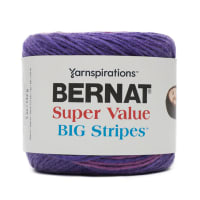 Bernat Super Value Big Stripes Yarn, Violets