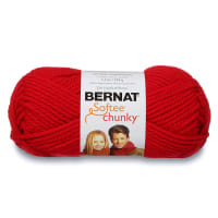 Bernat Softee Chunky Yarn (100g/80g), Berry Red