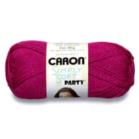 Caron Simply Soft Party Yarn, Fuchsia Sparkle