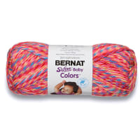 Bernat Softee Baby Colors Yarn, Pink Rainbow