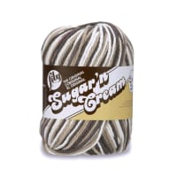 Lily Sugar'n Cream Super Size Ombres Yarn, Chocolate Ombre