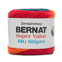 Bernat Super Value Big Stripes Yarn, Carnival