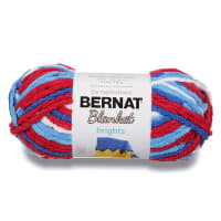 Bernat Blanket Brights Yarn (150g/5.3 oz), Red, White & Boom