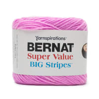 Bernat Super Value Big Stripes Yarn, Candy Floss