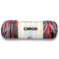 Caron Simply Soft Camo Yarn, Red Camo