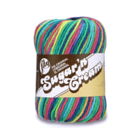 Lily Sugar'n Cream Super Size Ombres Yarn, Psychedelic