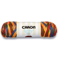 Caron Simply Soft Paints Yarn, Crayon Variegate