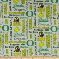 NCAA Oregon Ducks Heather Verbiage Fleece