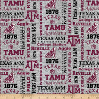 NCAA Texas A&M Aggies Fleece Heather Verbiage Multi