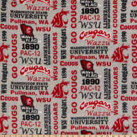 NCAA Washington State Cougars Fleece Heather Verbiage Multi