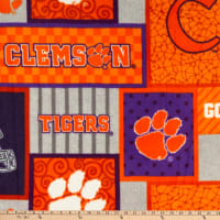 NCAA Clemson Tigers College Patch Fleece