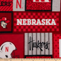 NCAA Nebraska Cornhuskers College Patch Fleece
