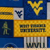 NCAA West Virginia Mountaineers College Patch Fleece
