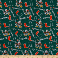 NCAA Miami Hurricanes Tone on Tone Cotton