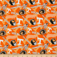 NCAA Tennessee Volunteers Tone on Tone Cotton