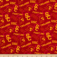 NCAA USC Trojans Tone on Tone Cotton
