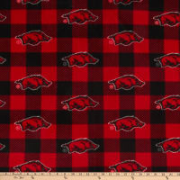 NCAA Arkansas Razorbacks Buffalo Plaid Fleece