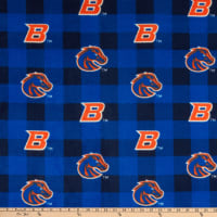 NCAA Boise State Broncos Buffalo Plaid Fleece