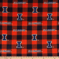 NCAA Illinois Fighting Illini Buffalo Plaid Fleece