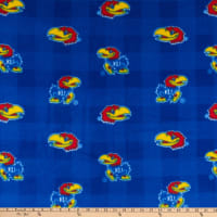 NCAA Kansas Jayhawks Buffalo Plaid Fleece