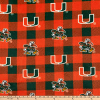 NCAA Miami Hurricanes Buffalo Plaid Fleece