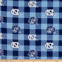 NCAA North Carolina Tar Heels Buffalo Plaid Fleece