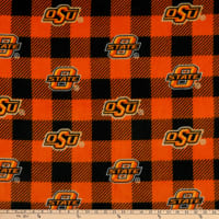 NCAA Oklahoma State Cowboys Buffalo Plaid Fleece