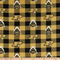 NCAA-Purdue Boilmakers Buffalo Plaid Fleece