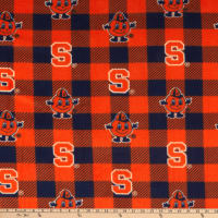 NCAA Syracuse Orange Buffalo Plaid Fleece
