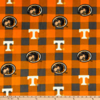NCAA Tennessee Volunteers Buffalo Plaid Fleece