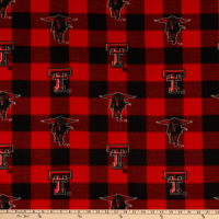 NCAA Texas Tech Red Raiders Buffalo Plaid Fleece