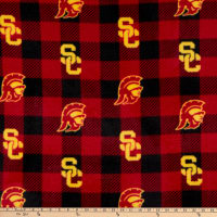 NCAA USC Trojans Buffalo Plaid Fleece