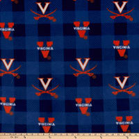NCAA Virginia Cavaliers Buffalo Plaid Fleece