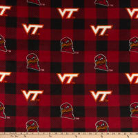 NCAA Virginia Tech Hokies Buffalo Plaid Fleece