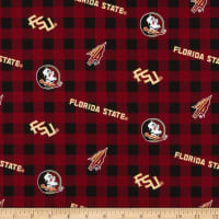 NCAA Florida State Seminoles Seminoles Buffalo Plaid Cotton