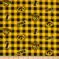 NCAA Iowa Hawkeyes Buffalo Plaid Cotton