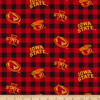 NCAA Iowa State Cyclones Buffalo Plaid Cotton