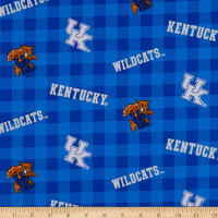 NCAA Kentucky Wildcats Buffalo Plaid Cotton