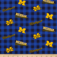 NCAA Michigan Wolverines Buffalo Plaid Cotton
