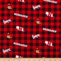 NCAA Nebraska Cornhuskers Buffalo Plaid Cotton