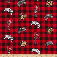 NCAA Ohio State Buckeyes Buffalo Plaid Cotton