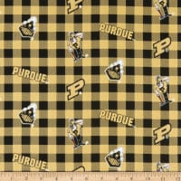 NCAA Purdue Boilermakers Buffalo Plaid Cotton