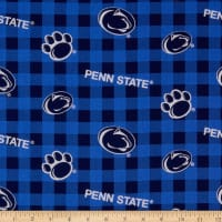 NCAA Penn State Nittany Lions Buffalo Plaid Cotton