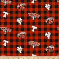 NCAA Texas Longhorns Buffalo Plaid Cotton