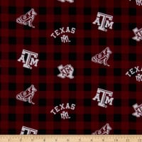 NCAA Texas A&M Aggies Buffalo Plaid Cotton