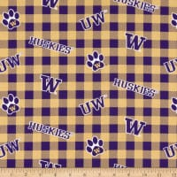 NCAA Washington Huskies Buffalo Plaid Cotton